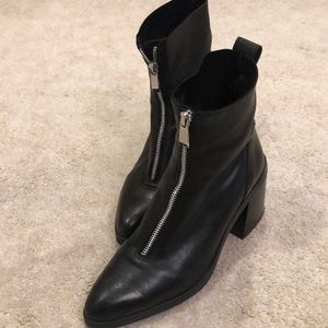 Zara zip front booties!